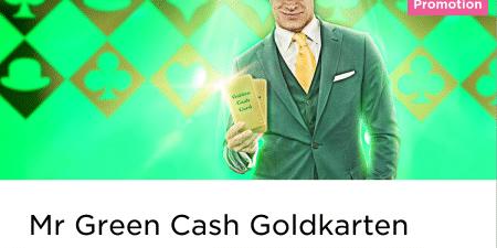 Beim Blackjack spielen im Mr Green Casino 20 Euro gewinnen