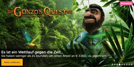 Die Gonzo's Quest Bargeld-Schatzsuche im Mr Green Casino