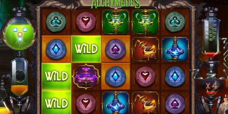 Alchymedes Spielautomat von Yggdrasil